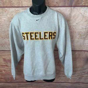 Nike Pittsburgh Steelers crew neck sweater medium